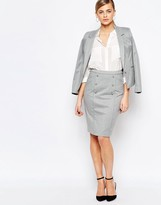 Oasis Button Detail Pencil Skirt