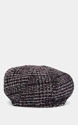 Lafayette House of Women's Beret 2 Houndstooth Wool Hat - Purple