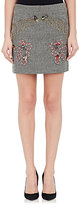 Stella McCartney WOMEN'S EMBROIDERED TWEED SKIRT-BLACK SIZE 38 IT