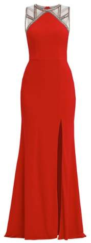 Unique Lipstick Red Gown