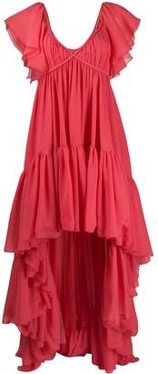 Giambattista Valli Ruffle High Low Dress