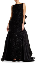 Oscar de la Renta Sleeveless Embellished Gown
