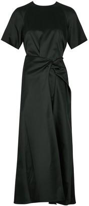 Rosetta Getty Black satin midi dress