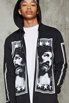 Forever 21 Jesus Graphic Zip-Up Hoodie