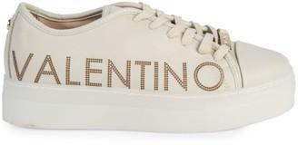 Mario Valentino Valentino By Dalia Sauvage Laser Leather Platform Runners