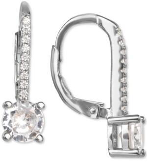 Giani Bernini Cubic Zirconia Leverback Drop Earrings in Sterling Silver, Created for Macy's