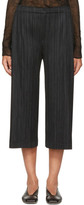 Pleats Please Issey Miyake Black Pleated Trousers