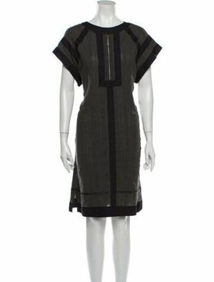 Isabel Marant Scoop Neck Knee-Length Dress Green