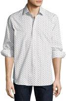 Robert Graham R by Scooter-Print Long-Sleeve Sport Shirt, White