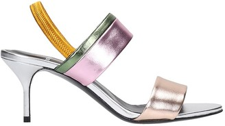 Pierre Hardy Alpha Party Sandals In Silver Leather