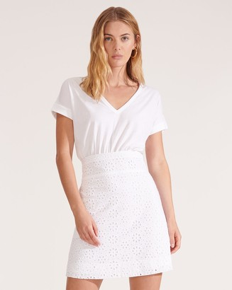 Veronica Beard Jiya Eyelet T-Shirt Dress