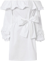 Alexis Miquela Off Shoulder Ruffle Dress