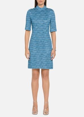 St. John Artisanal Space Dyed Stripe Dress