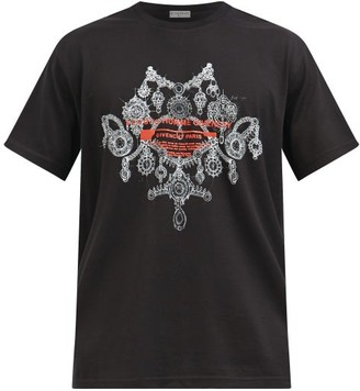 Givenchy Necklace-print Cotton-jersey T-shirt - Black
