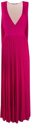 Antonino Valenti deep V-neck pleated dress