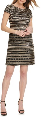 Vince Camuto Beaded Cocktail Dress