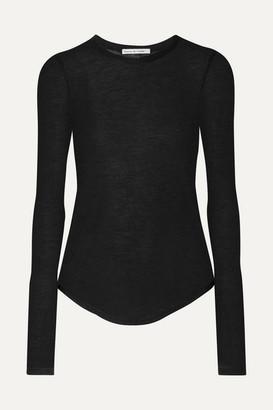 FRANCES DE LOURDES Romy Slub Cashmere And Silk-blend Top