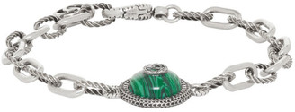 Gucci Silver and Green Garden Bracelet