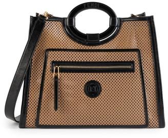 Fendi Large Runaway Perforated Leather Shopper