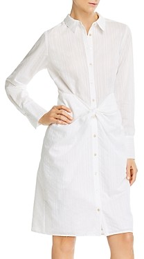 Rebecca Taylor Tailored Twisted-Front Shirtdress