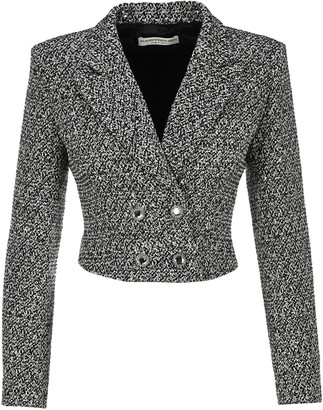 Alessandra Rich Tweed Cropped Blazer