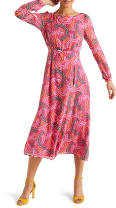 Boden Ingrid Print Long Sleeve Dress
