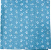 The Tie Bar Light Blue Bluegrass Floral Pocket Square