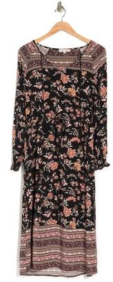 C&C California Eva Tassel Trimmed Split Neck Maxi Dress