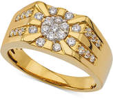 Macy's Men's Diamond Cluster Ring (3/4 ct. t.w.) in 10k Gold