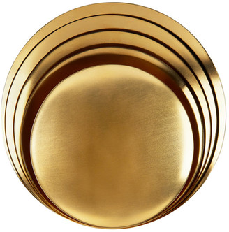 Tom Dixon Gold Brass Small Form Bowl Set