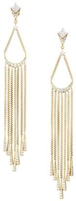 Adriana Orsini Gia 18K Yellow Goldplated & Cubic Zirconia Chain Fringe Earrings