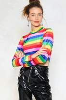Nasty Gal Pot of Gold Striped Top
