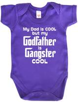 Dirty Fingers, My Dad is Cool Godfather is Gangster Cool, Baby Boy, Bodysuit, 3-6m, Navy