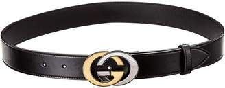 Gucci Interlocking G Logo Leather Belt