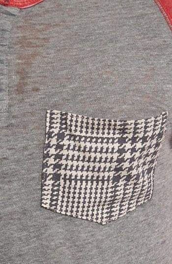 Alternative Apparel Alternative 'Burnout' Three Quarter Sleeve Henley