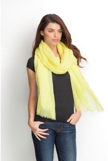 GUESS Flocked-Dot Scarf