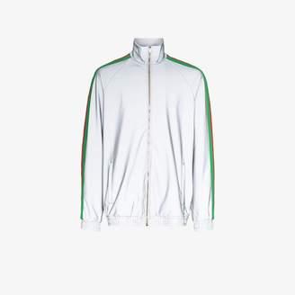 Gucci reflective side stripe track jacket