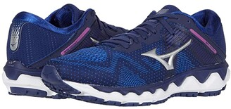 Mizuno Wave Horizon 4 (Medieval Blue/Silver) Women's Running Shoes