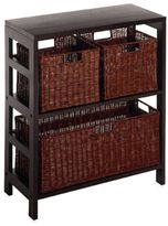 Bed Bath & Beyond Leo 2-Tier Shelf with Wire Frame Baskets