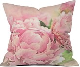 Deny Designs Pink Peonies Throw Pillow