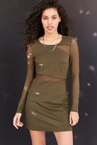 Silence & Noise Silence + Noise Lightning Mesh Cutout Mini Dress