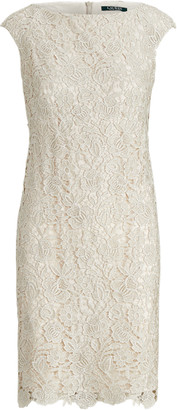 Ralph Lauren Lace Cap-Sleeve Dress