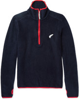 Michael Bastian Contrast-Trimmed Fleece Half-Zip Sweater