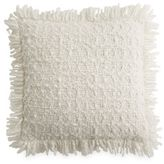 DKNY Wavelength Woven Square Throw Pillow in Platinum