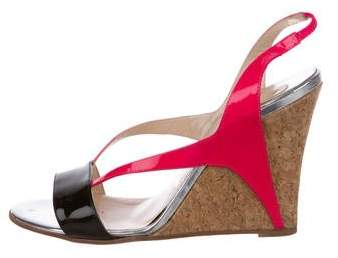 Christian Louboutin Slingback Wedge Sandals