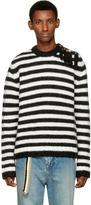 Loewe Black and White Striped Sweater