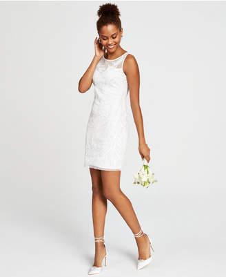 Adrianna Papell Sequined Overlay Sheath Dress