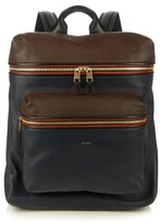 Paul Smith Shoes & Accessories Colour-block Leather Piped Backpack