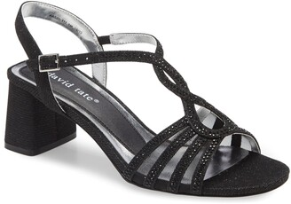 David Tate Choice Embellished Glitter Strappy Sandal - Multiple Widths Available