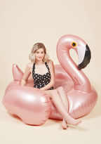 Sunnylife Flock on the Wild Side Pool Float in Rose Gold Flamingo